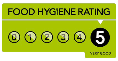five star food hygiene rating for our Wedding Catering in Dorset and Dorchester
